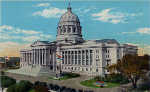 image of Capitol Building from Missouri Digital Heritage Collection, http://cdm16795.contentdm.oclc.org/cdm/ref/collection/postjc/id/121
