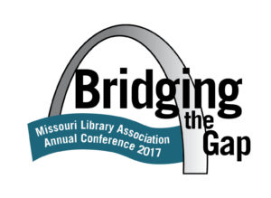"conference logo featuring St. Louis Arch with the words ""Bridging the Gap"""