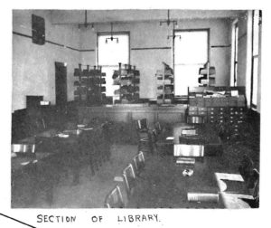 Early 1900s library at Missouri State University