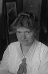 Image is of Margery Quigley Margery was a Missouri native who started one of the first bookmobiles in the northeast in 1916. http://www.gfjlibrary.org/about/history/